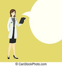 医者, 漫画, スピーチ, 看護婦, 泡, ∥あるいは∥