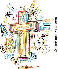 十字架像, いたずら書き