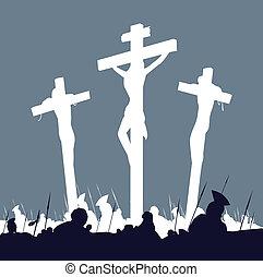 十字, 現場, キリスト, -, 3, イエス・キリスト, はりつけ