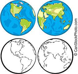 半球, 東, 西部, &