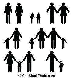 単一, 家族, 2, 親