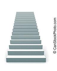 単一, 階段, 3d