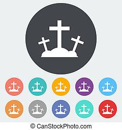 単一, calvary, icon.