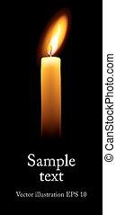 単一, candle.