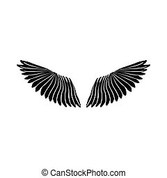 単純である, アイコン, スタイル, 対, 翼