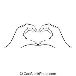 単純である, シンボル, 愛, 手