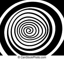 単純である, 白, 黒, らせん状に動きなさい, 背景