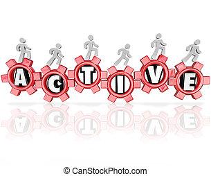 単語, 人々, フィットネス, 運動, ギヤ, 活動, 活動的, 健康診断