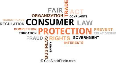 単語, 保護, -, 消費者, 雲