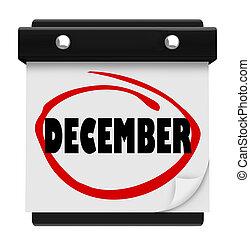 単語, 冬, 壁, 12月, 月, カレンダー, クリスマス, 変化しなさい
