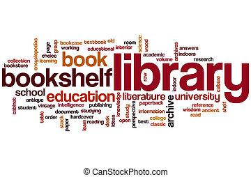 単語, 図書館, 雲