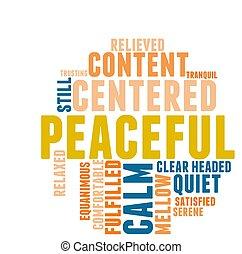 単語, 平和である, 雲