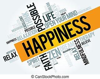 単語, 幸福, 雲