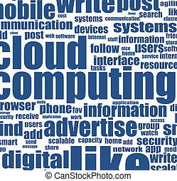 単語, 概念, 雲, ビジネス, 計算