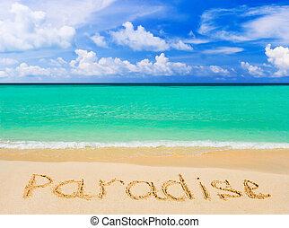 単語, 浜, パラダイス