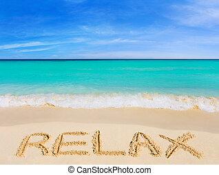 単語, 浜, リラックスしなさい