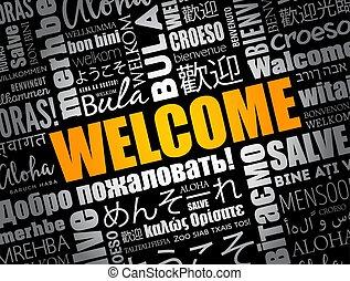 単語, 言語, 別, 雲, 歓迎