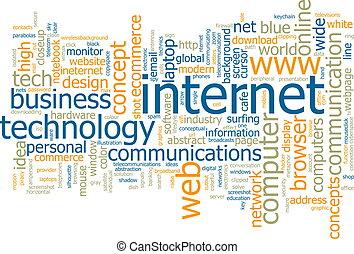 単語, 雲, インターネット