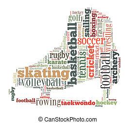 単語, 雲, スポーツ