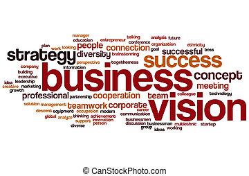 単語, 雲, ビジョン, ビジネス