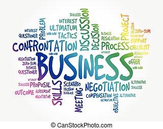 単語, 雲, 概念, ビジネス