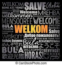 単語, 雲, 歓迎, 言語, 別