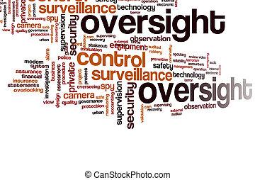 単語, 雲, oversight