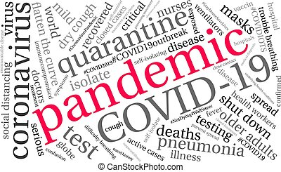 単語, pandemic, 雲