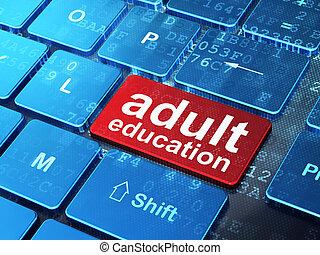 単語, render, ボタン, キーボード, 背景, コンピュータ, 成人, 入りなさい, 教育, concept:, 3d
