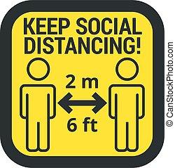 印, たくわえ, 安全である, 距離, 社会