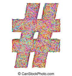 印, カラフルである, 作曲された, 隔離された, 数, striplines, 白