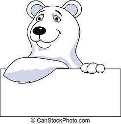 印, 漫画, 熊, 北極, ブランク