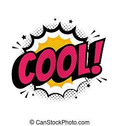 印, 点を打たれた, comi, アイコン, ポンとはじけなさい, 背景, ベクトル, 上に, イラスト, 涼しい, 芸術, style.