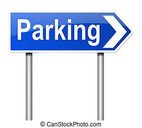 印。, 駐車