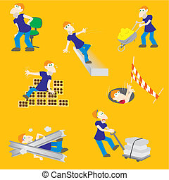 危険, 建築作業員, 事故