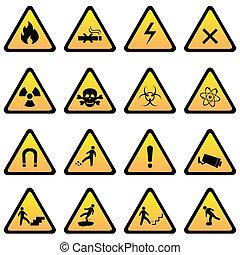 危険, 警告 印