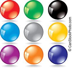 反射, 色, 窓, 泡, 光沢がある, 3d