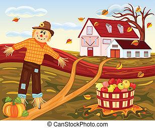 収穫する, 農場, 秋