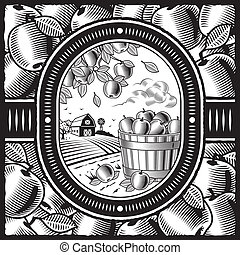 収穫, 白, 黒, アップル