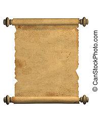 古い, スクロール, 羊皮紙