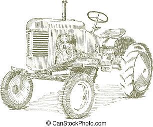 古い, トラクター