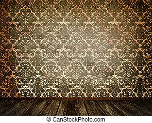 古い, 床, 木製である, 壁紙, バックグラウンド。, 汚い