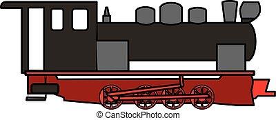 古い, 蒸気, 機関車