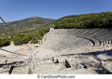 古代 ギリシャ, peloponisos, 円形劇場, epidaurus