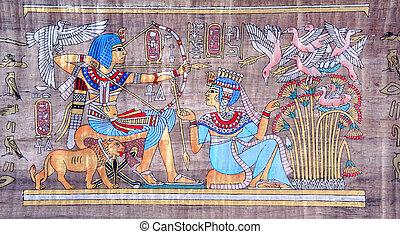 古代, パピルス, エジプト人