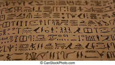 古代, 象形文字, 背景, エジプト人