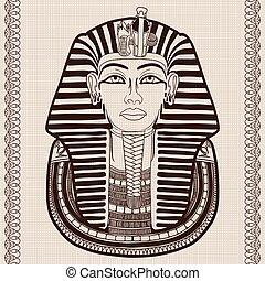 古代, mask., エジプト人