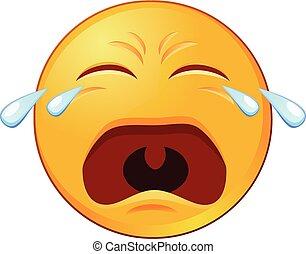 叫ぶこと, アイコン, ベクトル, emoji