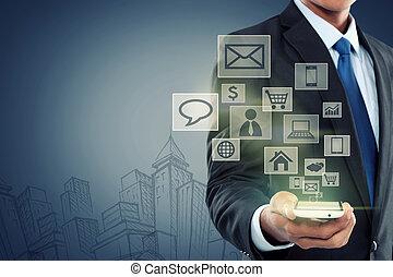 可動的なコミュニケーション, 現代 技術, 電話