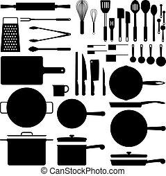 台所用具, シルエット